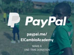 Donate El Cambio Academy Uganda NGO via PayPal