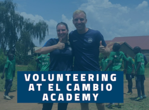 Volunteers at football academy Uganda